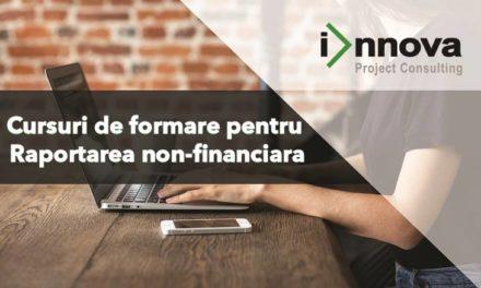 Innova ofera cursuri de formare pentru Raportarea non-financiara