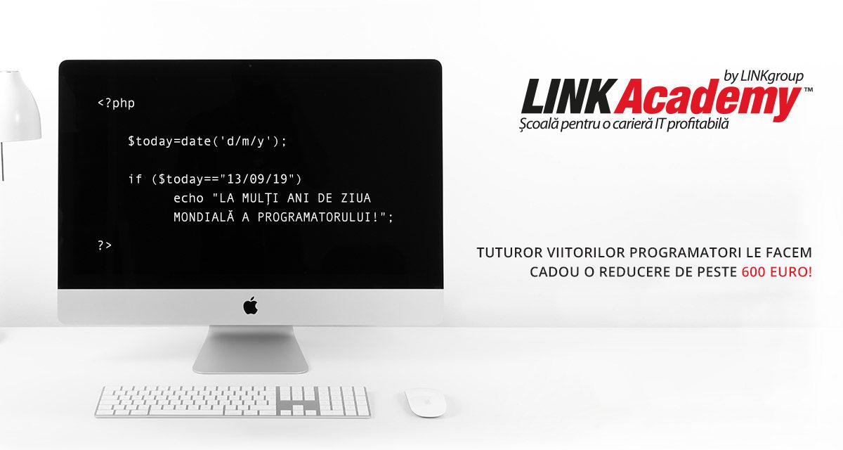 De Ziua Programatorului, LINK Academy VĂ OFERĂ CADOU O REDUCERE DE PESTE 600€