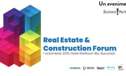 Real Estate & Construction Forum pe 1 octombrie 2019