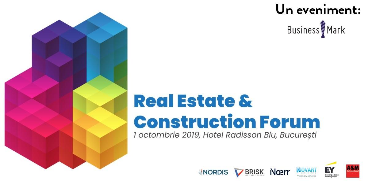 Office, Rezidențial, Retail, Industrial&Logistic – perspectivă 360 grade, la Real Estate & Construction Forum