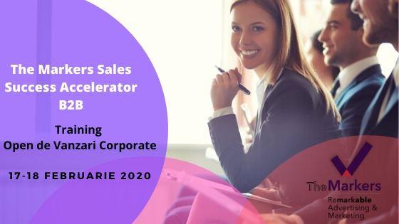 The Markers Sales Success Accelerator B2B Training Open de Vanzari Corporate