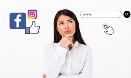 Site-ul web sau profilul pe retelele sociale?