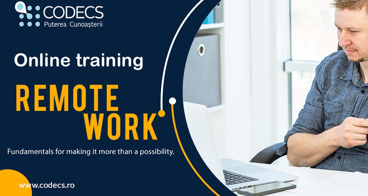 Remote Work- Training Online 22-24 aprilie 2020
